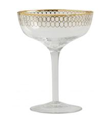 Martiniglas Gold pattern 15cm
