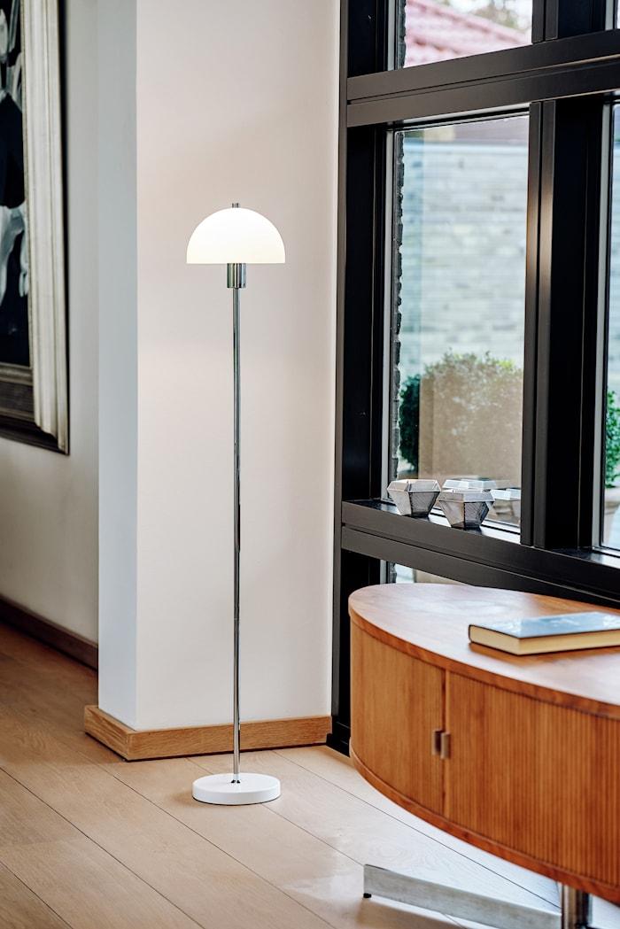 Vienna gulv hvit glass E14