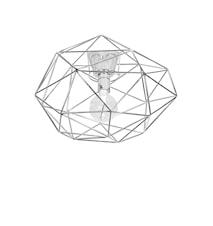 Plafond Diamond Krom