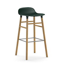 Form Barstol Grön/Ek 75 cm