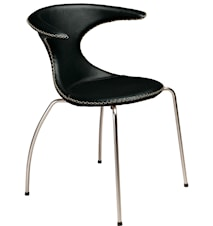 Flair stol – Svart konstläder, matt