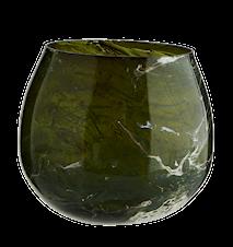 Fyrfadsstage Glas Marmoreret Grøn
