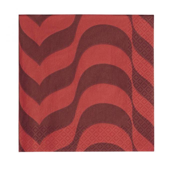 Aalto pappersservett 33cm Plommon/röd