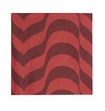 Aalto paperiservietti 33 cm luumu/punainen