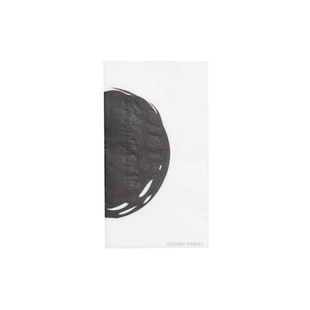Servett Cerchio Svart/Vit