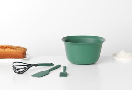 Tasty Bakset med Visp Tillredningsskål Brödpensel och Slickepott