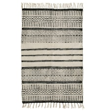 Teppe Canvas striper 75x150 cm - Svart