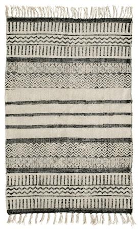 Matta Canvas Ränder 75x150 cm Svart