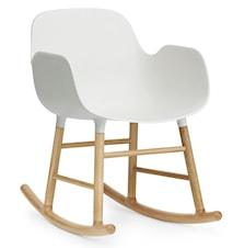 Form rocking chair stol med armlene eik - White