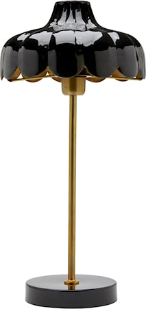 Wells Bordslampa Svart/guld 50cm