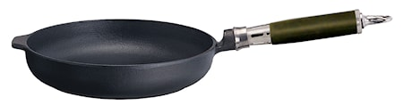 Paistinpannu pyöreä reunus, Comfort Line Ø 25 , kahva ruostumatonta terästä/silikonia