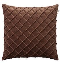 Deva Pillowcase Velvet Brown 50x50cm