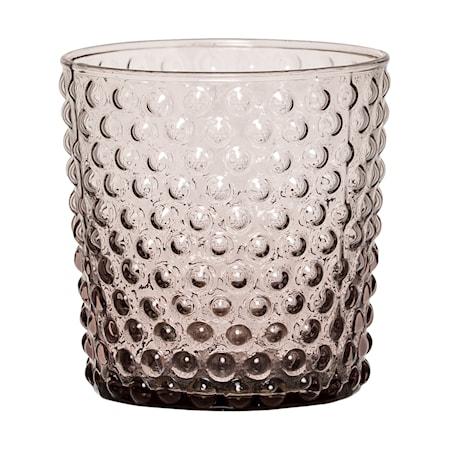 Ljuslykta Glas Lila 8,5x8,5 cm