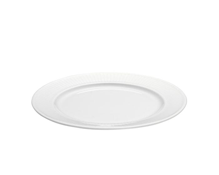Plissé Tallrik Flat vit Ø 17 cm
