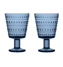 Kastehelmi Glas på fod Regn 26 cl 2-pak