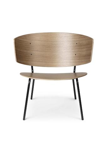 Herman Lounge Stol Mörk Stained Ek