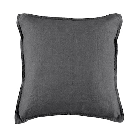 Kuddfodral linne 50x50cm - Mörkgrå