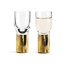 Club Snsps- och shotglas 4 cl Guld 2-pack