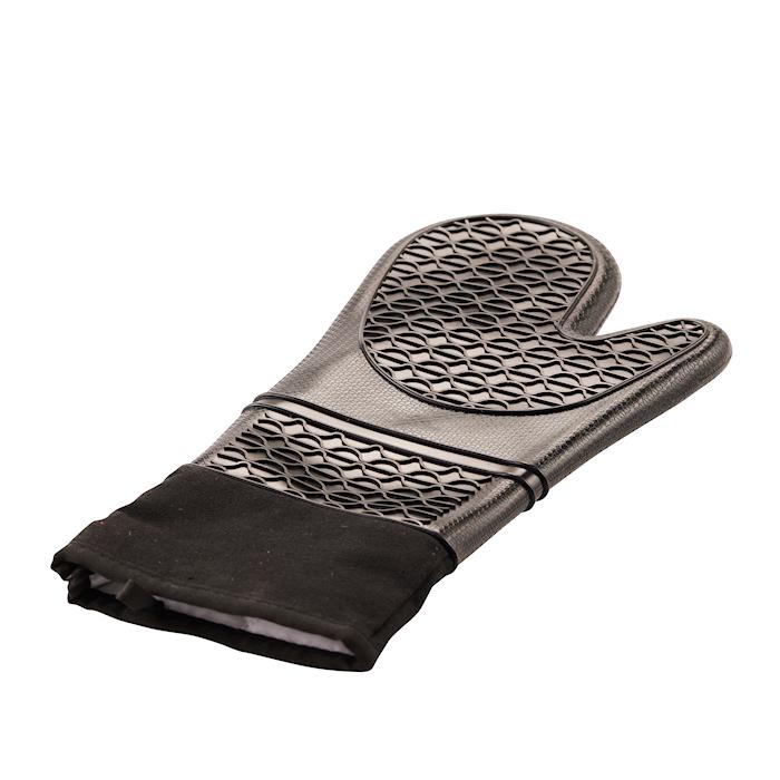 Grillhandske Silikone 37 cm Sort