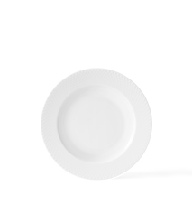 Rhombe Dyp Tallerken Ø23 cm Hvit Porselen