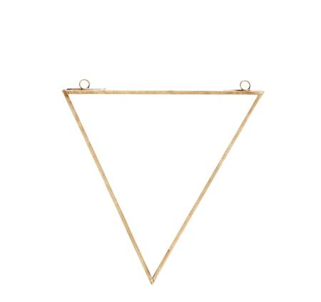 Triangulär spegel 20x23 cm Mässing