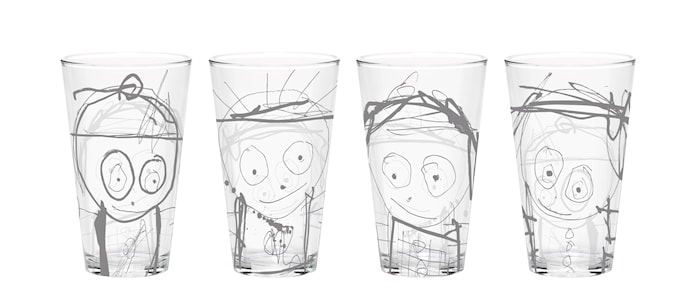 Poul pava great guys Glass 36 cl 4-pakk