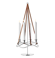 Maria Berntsen Season Extension for Candle Holder Shiny Steel