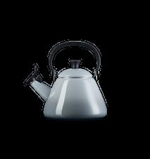 Le Creuset Kone Wasserkocher mit Pfeife emaillierter Stahl nebelgrau