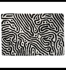 Maze Dörrmatta Svart/Vit 60x90 cm