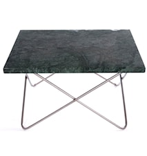 Xsmall table - green, stainless frame