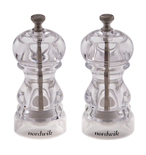 Salt & Pepper Mill Set 13 cm Acrylic