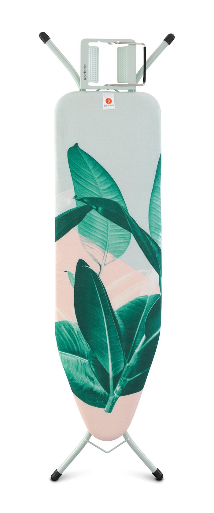 Strykbord Stl B med Ångstrykjärnshållare Tropical Leaves
