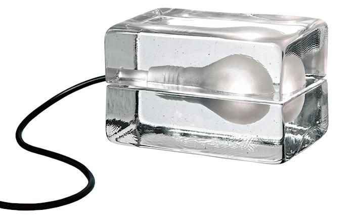 Block Lampa med tekstilledning Svart