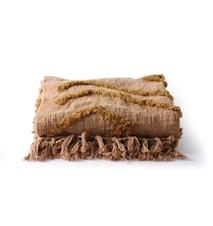 Cotton Fringe Pattern Filt Brun 130x170 cm