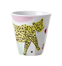 Leopard Print Mugg Liten Melamin Pastell