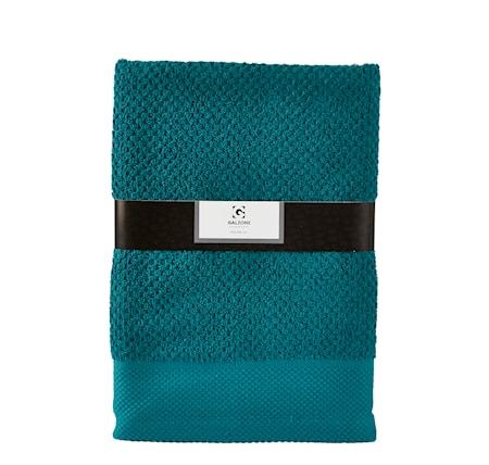 Billede af Håndklæde - 100% bomuld - 400 g - Petrol - L 140,0cm - B 70,0cm - Sleeve - Stk.