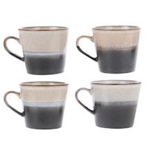 70's Kaffekop Sort og Hvid 30 cl