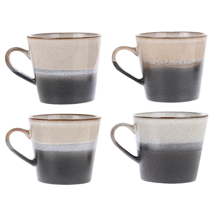 70's Kaffekopp Svart och Vit 30 cl