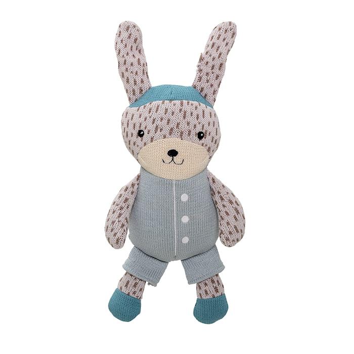 Strikket Kanin Blå Bomuld 40x20 cm