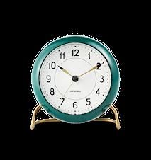 Arne Jacobsen Station bordsur, grønn/hvit, Ø 11 cm, alarmfunksjon
