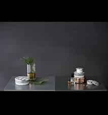 Boks med lokk, Mascarade, Sølv Ø16 cm
