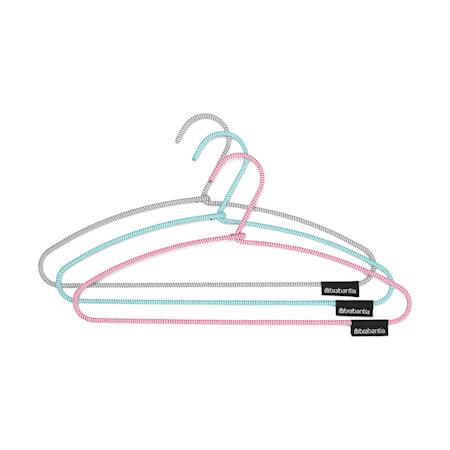 Soft Touch Klädhängare Mint/Rosa/Mörkgrå