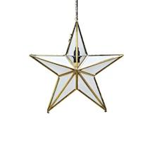 Glasstjärna Ansgar 50cm Guld