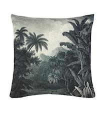 Pute Trykket Mønster Jungle Svart/Hvit 45x45 cm