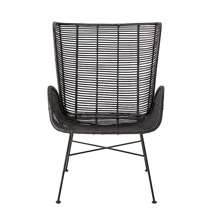 Erika Lounge Chair, Black, Rattan
