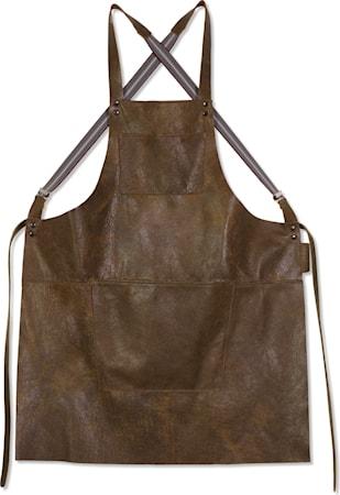 Suspender Förkläde Vintage Brun