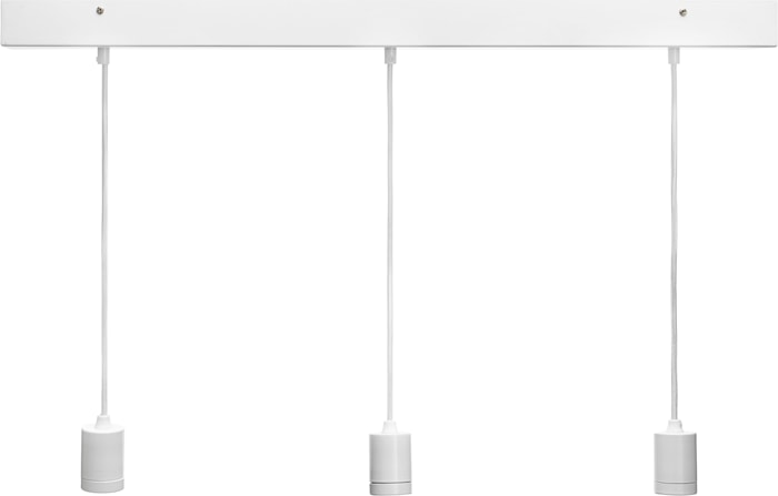 Line 3 ceiling light Rectang, white 80cm