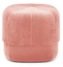 Circus pouf sittepuff velour small - Blush