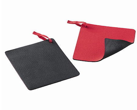 Duo Protector Grytlapp 15x15cm svart/röd