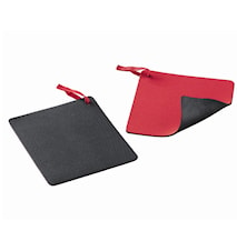 Duo Protector Grydelap 15x15cm sort/rød
